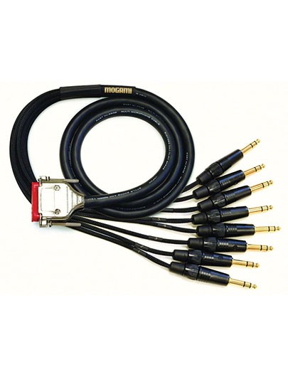 Mogami GOLD-DB25-TRS-50 Analog Recorder Interface Cable, 8 Channel, DB25 to TRS, 50 ft.