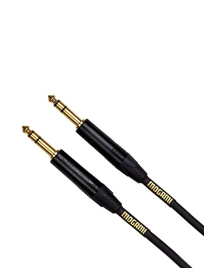 """Mogami GOLD TRS-TRS-20 Balanced Patch Cable, 1/4"""" TRS Plug Connectors, 20 ft."""