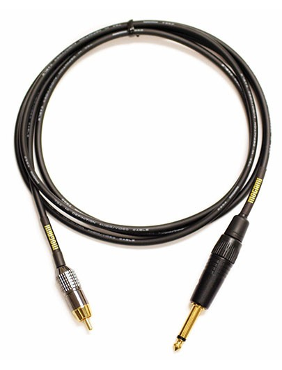 "Mogami GOLD TS-RCA-12 Audio Patch Cable, 1/4"" TS Plug to RCA Plug, 12 ft."