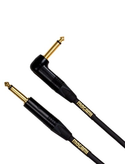 Mogami GOLD INSTRUMENT-02R Instrument Cable, Right Angle to Straight, 2 ft.