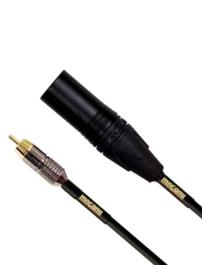 Mogami GOLD XLRM-RCA-03 Audio Patch Cable, RCA Plug to XLR-Male, 3 ft.
