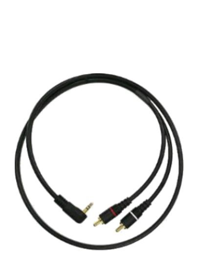 "Mogami PP 3.5R 2R-03 Pure Patch IP Cable, 1/8"" TRS Right Angle Plug to Dual RCA Plugs, 3 ft."