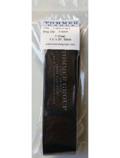"Cord-Lox Y-420-0-003 Y-Series Cable Strap, 1.5"" x 20"", Black, Pack of 3 each"