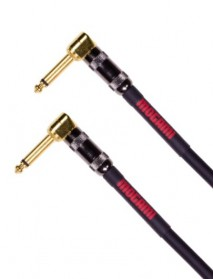 "Mogami OD GTR-03RR Overdrive Pedal/Effects Instrument Cable, Gold 1/4"" Right Angle Plugs, 3 ft."