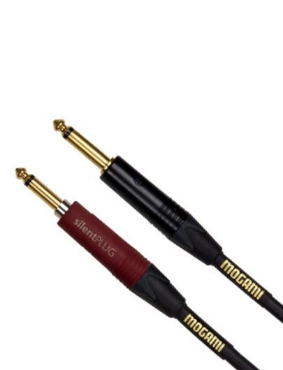 Mogami GOLD INSTRUMENT SILENT S-10, Straight silentPLUG to Straight, 10 ft.