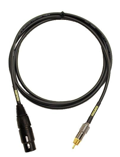 Mogami GOLD XLRF-RCA-03 Audio Patch Cable, XLR-Female to RCA Plug, 3 ft.