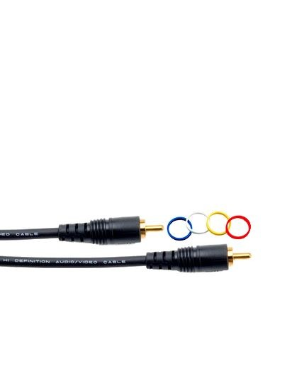 Mogami PURE PATCH RR-01 Professional Audio/Video Cable, RCA Plug Connectors, 1 ft.